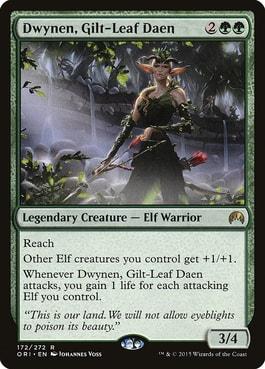 Dwynen, Gilt-Leaf Dean Elf Tribal in Commander