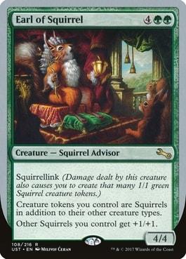 Earl of Squirrel Best Silver Border Squirrel Cards MTG