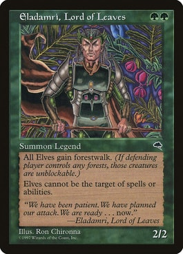 Eldamri, Lord of Leaves Elf Tribal in Commander