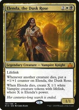 Elenda, the Dusk Rose Best Commanders for Vampire Tribal