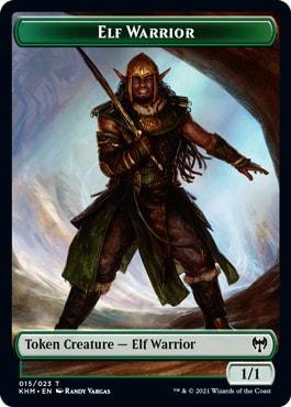 Elf Warrior List of All Kaldheim Tokens