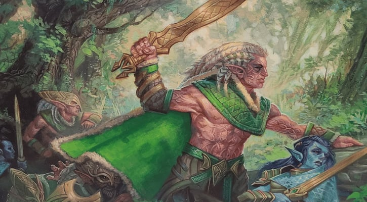 Elven Ambush Elf Tribal in Commander Banner