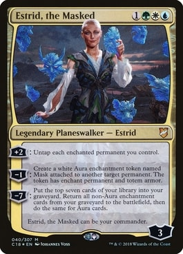 Estrid the Masked Synergy and Commander Staples