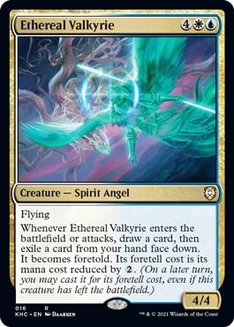 Ethereal Valkyrie Phantom Premonition Kaldheim Commander Decklist