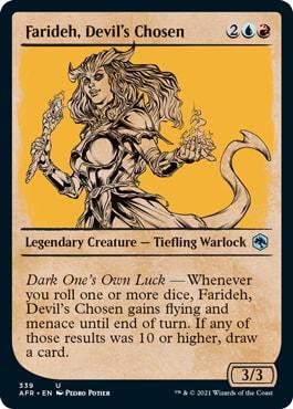 Farideh, Devil's Chosen Where to Get DND Rulebook MTG Cards