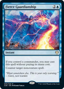 Fierce Guardianship Top 10 Commander 2020 Cards