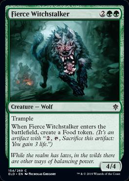 Fierce Witchstalker Best Common Throne of Eldraine