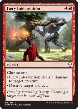 Fiery Intervention Dominaria Draft Guide