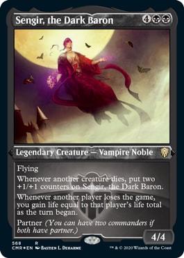 Foil Etched Sengir the Dark Baron Commander Legends Collector Booster Contents