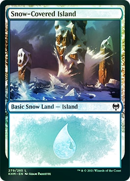 Foil Snow-Covered Land in Collector Boosters Kaldheim