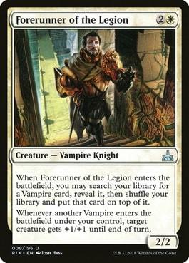 Forerunner of the Legion Tutor for Vampires