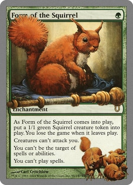 Form of the Squirrel Best Silver Border Squirrel Cards MTG