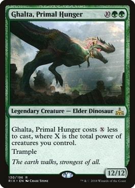 Ghalta Primal Hunger Best MTG Dinosaur