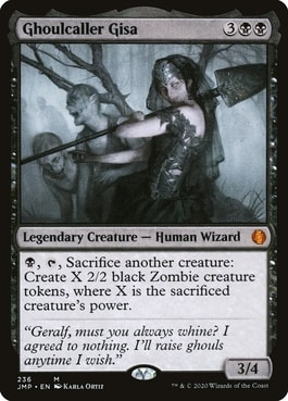 Ghoulcaller Gisa Zombie Commander Tribal