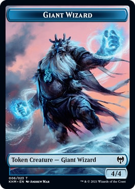 Giant Wizard List of All Kaldheim Tokens