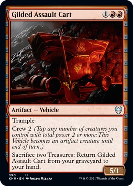 Gilded Assault Cart Kaldheim Theme Booster Exclusive Cards
