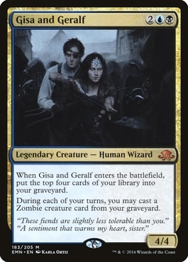 Gisa and Geralf Zombie Commander Deck
