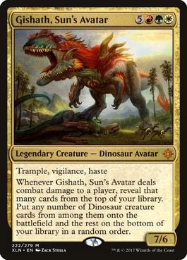 Gishath Sun's Acatar Best Tribal Dinosaur Commanders