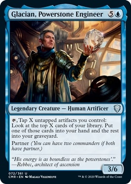 Glacian Powerstone Engineer Commander Legends All Cards