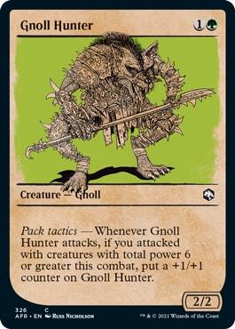 Gnoll Hunter MTG DND Rulebook Cards