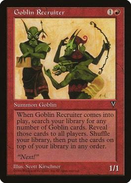 Goblin Recruiter Best MTG Goblin Tribal Cards