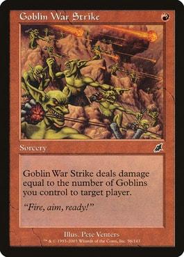 Goblin War Strike Best Cards for Goblin Commander