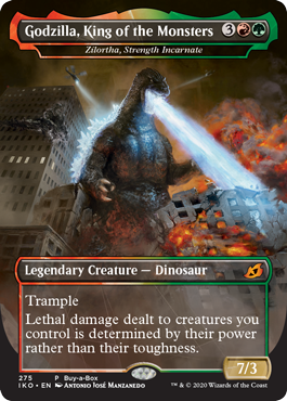 Godzilla, King of the Monsters Magic the Gathering Buy a Box Promo