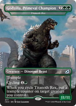 Godzilla, Primeval Champion MTG