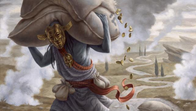 Gray Merchant of Asphodel Mono Black Devotion Banner