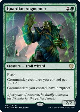 Guardian Augmenter Commander 2021 New Cards