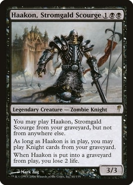Haakon Stromgald Scourge Best Cards for Knight Tribal MTG