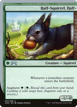 Half-Squirrel, Half- Best Silver Border Squirrel Cards MTG