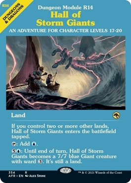 Hall of Storm Giants DND MTG Land