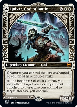 Halvar God of Battle Kaldheim Showcase Cards