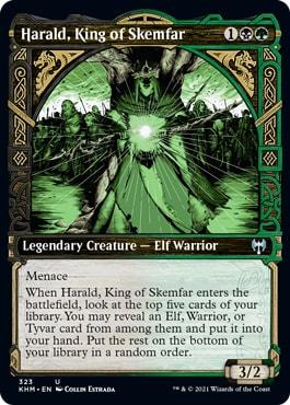 Harald, King of Skemfar Kaldheim Showcase Cards