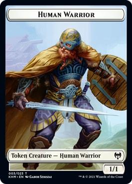 Human Warrior List of All Kaldheim Tokens