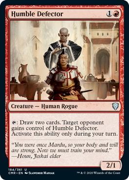 Humble Defector Commander Legends Spoilers