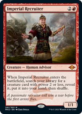 Imperial Recruiter Best Modern Horizons 2 Cards for Modern