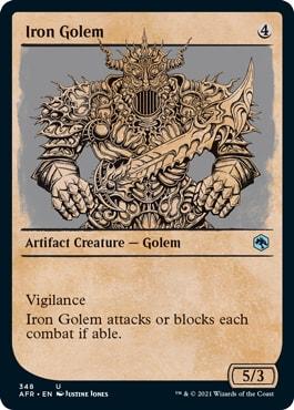 Iron Golem MTG DND Rulebook Card List