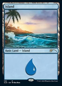 Island Bob Ross Basic Lands Arena