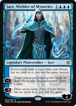 Jace Wielder of Mysteries Mono Blue Commonder Win Conditions