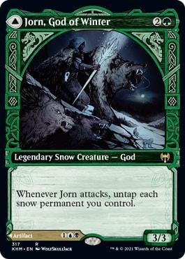 Jorn, God of Winter Kaldheim Viking Showcase Cards
