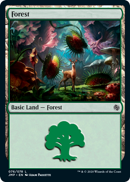 Jumpstart Basic Land Forest Predatory