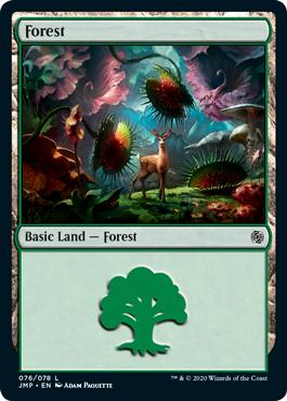 Jumpstart Basic Land Forest Predatory