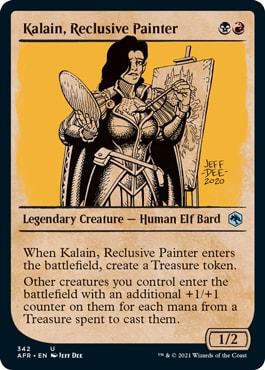Kalain, Reclusive Painter MTG DND Rulebook Cards