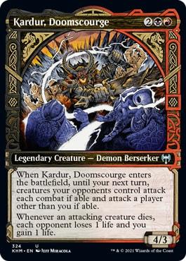 Kardur, Doomscourge Viking Showcase Cards MTG