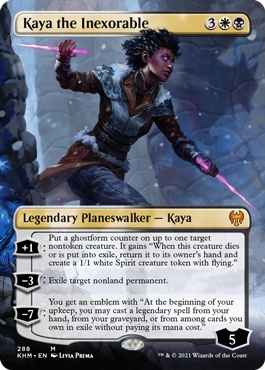 Kaya the Inexorable Kaldheim Collector Booster