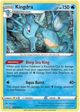 Kingdra Best Cards Battle Styles Pokemon TCG