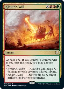 Klauth's Will Draconic Rage Decklist