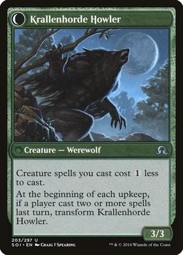Krallenhorde Howler Best Werewolf Cards MTG